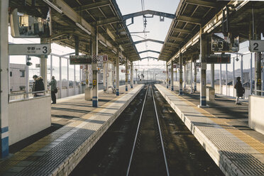 Japan, View of a local train station - FL000354