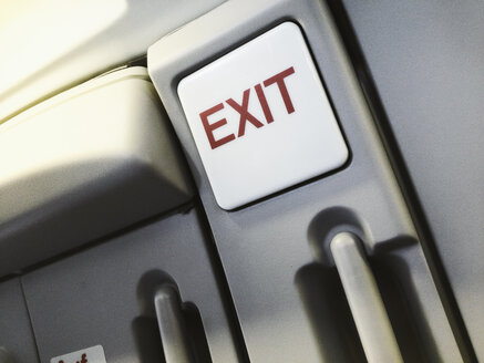 Exit sign inside of aircraft - SEF000461