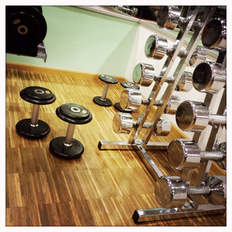 Dumbbells in the gym - DHL000308