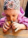 Girl, lighter, candle, curiosity, experience, Munich, Bavaria, Germany - GSF000715