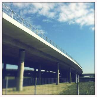 Highway bridge, Frankfurter Ring, Munich, Bavaria, Germany - GSF000732