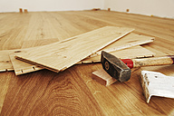 Laying finished parquet flooring, close-up - BIF000309