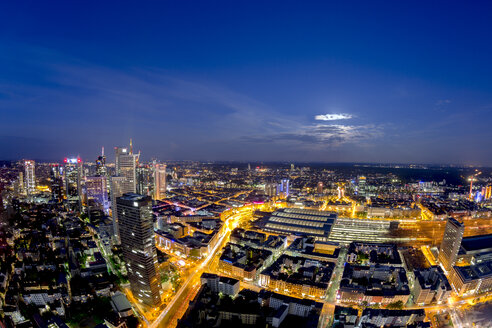 Germany, Hesse, Frankfurt, cityscape at night - TIF000012