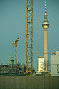 Germany, Berlin, Mitte, TV Tower at Alexanderplatz in the evening - CMF000031