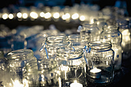 Lots of tea lights in jars - MJF000599