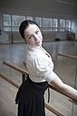 Germany, Bavaria, female ballet dancer at a rehearsal - VTF000070