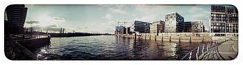 Germany, Hamburg, HafenCity with panoramic Elbphilarmonie - KRPF000129