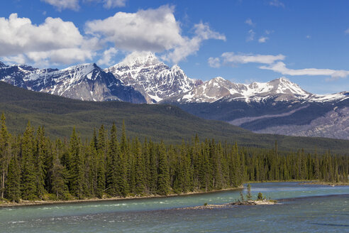 Canada, Alberta, Jasper National Park, Banff National Park, Icefields Parkway, Athabasca River - FO005660