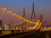 Germany, Hamburg, Kohlbrand Bridge at night - TIF000016