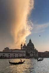 Italy, Venice, Canale Grande, Church Santa Maria della Salute at sunset - FO005819