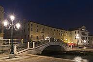 Italy, Venice, Bridge at Piazza San Marco at night - FOF005647