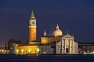 Italy, Venice, San Giorgio Maggiore at night - FOF005687