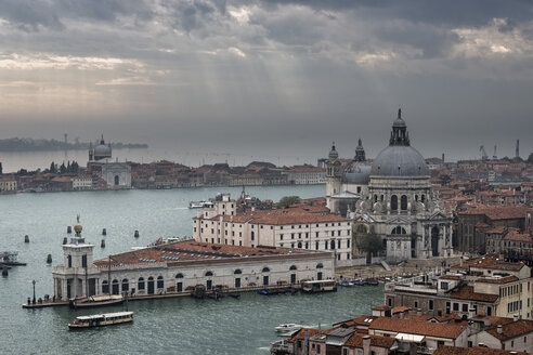 Italy, Venice, View from Campanile to church Santa Maria della Salute - FOF005955