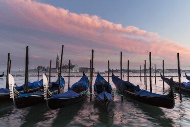Italy, Venice, Gondolas and church San Giorgio Maggiore - FOF005924