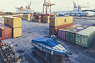 Italy, Sicily, Palermo, Containers at harbour - MF000817