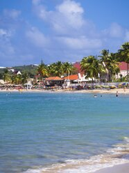 Caribbean, Lesser Antilles, Saint Lucia, Rodney Bay with beach and deluxe hotels - AMF001744