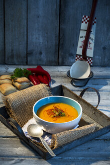 Carrot soup with chilli threads - MAEF007667