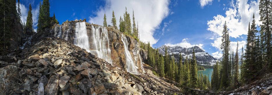 Canada, Alberta, Rocky Mountains, Yoho National Park, Seven Veils Falls near Lake O'Hara - FOF005678