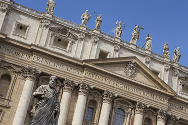 Italy, Rome, part of facade of St. Peter's Basilica - DIS000406