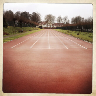 Running track at sports field, University of Bielefeld, Germany - ZM000180