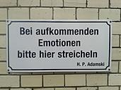 Sign, Emotions, stroking, Hackesche Hoefe, Germany, Berlin - BFR000317