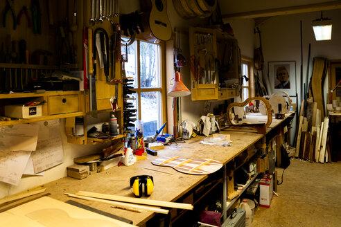 Workshop of a guitar maker - TC003857