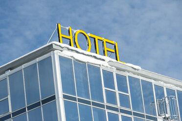 Germany, Baden-Wuerttemberg, Feldberg, Hotel sign - PAF000309