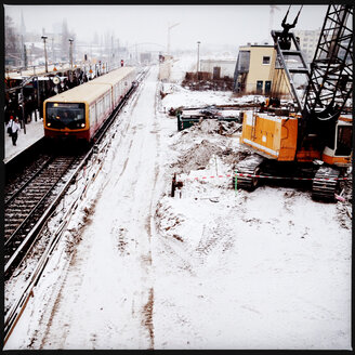 Construction Site andtrain station in winter, Berlin, Germany - MVC000098
