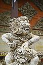 Indonesia, Bali, Batuan Temple, view to statue of Hindu god, close-up - KRP000236