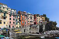 Italy, Cinque Terre, La Spezia Province, Liguria, Riomaggiore, fishing village - AMF001782