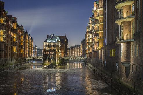 Germany, Hamburg, The Wasserschloss in the historic Warehouse District of Hamburg - NKF000056