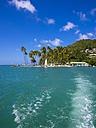 Caribbean, Saint Lucia, Marigot Bay, View on beach from ocean - AMF001796