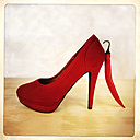 Red Pumps with chilli, Studio, Freiburg, Germany - DRF000491
