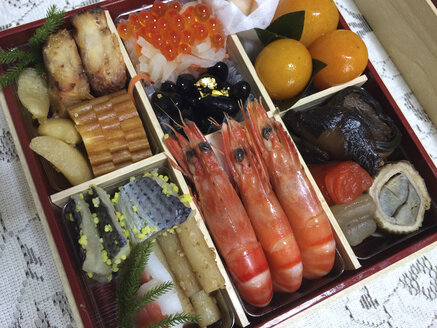 Japanese food in a tray, Japan - FLF000389