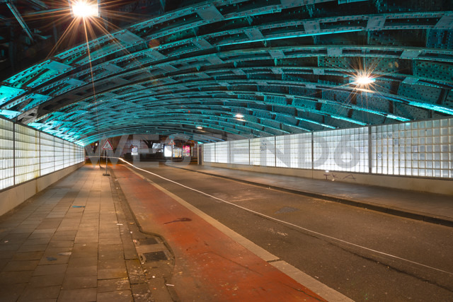 Germany, North Rhine-Westphalia, Cologne, lighted underpass by night - WGF000228 - Walter G. Allgöwer/Westend61