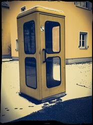 yellow phone booth, Landshut, Bavaria, Germany - SAR000231