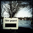 Ferry closed down, ice on river Havel, Brandenburg, Germany - ZMF000204