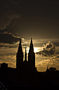 Germany, Thuringia, Heiligenstadt, St Mary's Church at sunset - SJF000087