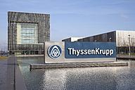 Germany, North Rhine-Westphalia, Essen, Krupp-Guertel, headquarter of ThyssenKrupp - WI000347
