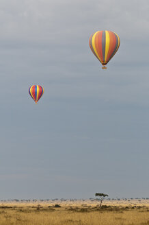 Africa, Kenya, Maasai Mara National Reserve, Two hot air balloons - CB000275