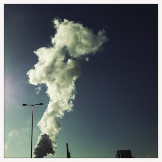 Water vapor plume from a chemical factory, industrial area in Linz, Linz, Upper Austria, Austria - MSF003308