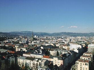 Overlooking the city of Linz from Wissensturm, Linz, Upper Austria, Austria - MSF003316