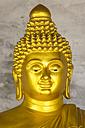 Thailand, Phuket, Karon, head of little golden Buddha statue - THA000083