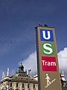 Germany, Bavaria, Munich, Underground station, Tram, signs - LAF000568