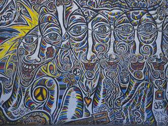 Germany, Berlin, detail of graffiti on Berlin wall - LA000548