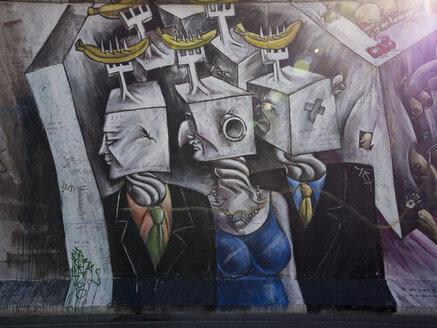 Germany, Berlin, detail of graffiti on Berlin wall - LA000549