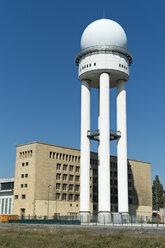 Germany, Berlin, view to radar dome at Tempelhofer Feld, formerly Berlin Tempelhof airport - LAF000564