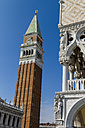 Italy, Venice, Doge's Palace and St Mark's Campanile - EJWF000262