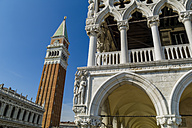 Italy, Venice, Doge's Palace and St Mark's Campanile - EJWF000263