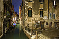 Italy, Venice, Alley at night - EJWF000247